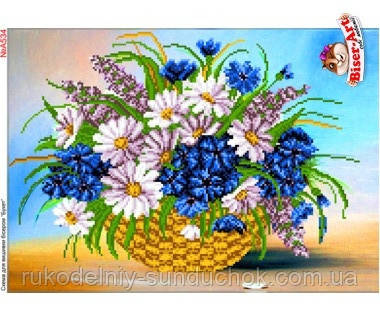 Схема для вишивки бісером Бисер-Арт Польові квіти (А534)
