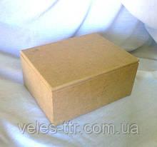 Шкатулка с петлями прямоугольная 19х14,5х9 см мдф заготовка для декора №014