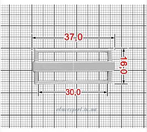 Пряжка-перетяжка  30 мм  Срібло, фото 2