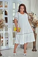 Стильное платье свободного покроя батал, фото 1