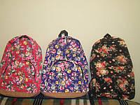 Яркий, стильный, модный эко-рюкзак в цветочек.