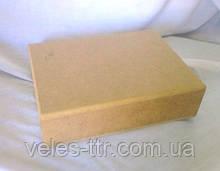 Шкатулка без петель прямоугольная 19х14,5х5 см мдф заготовка для декора №010