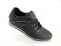 Кожаные мужские спортивные туфли Columbia model (MTH) чёрные