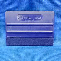 Ракель комбинированный Avery Dennison, жесткий, синий, аппликатор, выгонка
