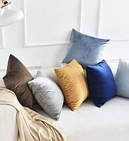 Пошив мягких декоративных подушек из мебельной ткани Велюр
