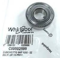 Подшипники Ariston, Indesit, Whirlpool  6202 C00002599(SKF) Оригинал