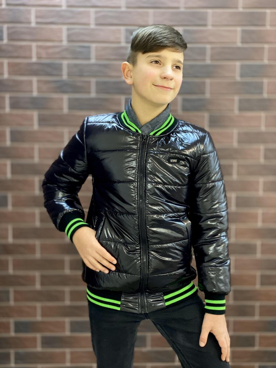 """Демисезонная куртка на мальчика подростка """"БОМБЕР МОНКЛЕР"""""""" р. 128-134-140-146"""