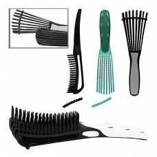 Расческа продувная антистатическая для густых волос с распоркой (трансформер)