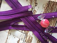 Молния змейка Пластик  фиолетовый  р 80