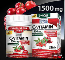 Витамин C 1500мг+D3+Zink-vitamin натурального происхождения мегадоза  , 100 шт Венгрия .Оригинал!