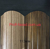 Корея 10лет Гарантия Штакетник двухсторонний матовый 0,5мм RAL 8004 113мм, фото 3