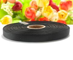 РЕПСОВАЯ лента ширина 0,6см (25 ярдов) Цена за рулон, цвет - Чёрный