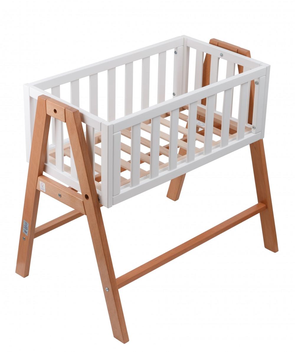 Кроватка люлька Veres Manhattan бело-буковый 21.1.1.32.15