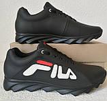 Чоловічі кросівки Fila E! Супер ! 110% Шкіряні! Спортивний міський стиль Філа, фото 2