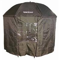 Зонт палатка для рыбака с окном ПВХ d2.5м SF23775