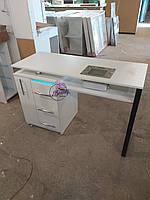 Маникюрный столик с вытяжкой Turbo Teri, УФ-лампой и ящиком Карго