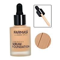 Сияющая тональная сыворотка Farmasi Luminous Serum 30 мл / Far - 1302703 06 медовый