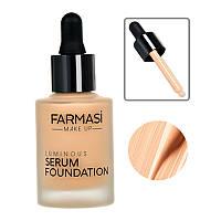 Сияющая тональная сыворотка Farmasi Luminous Serum 30 мл / Far - 1302703 03 фарфоровый