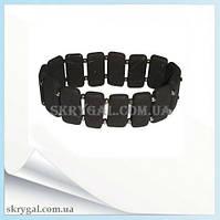 Браслет шунгитовый пластинчатый (из цельного шунгита) 18 или 22 см.