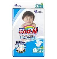 Підгузники GOO.N для дітей 9-14 кг (розмір L, на липучках, унісекс, 54 шт)