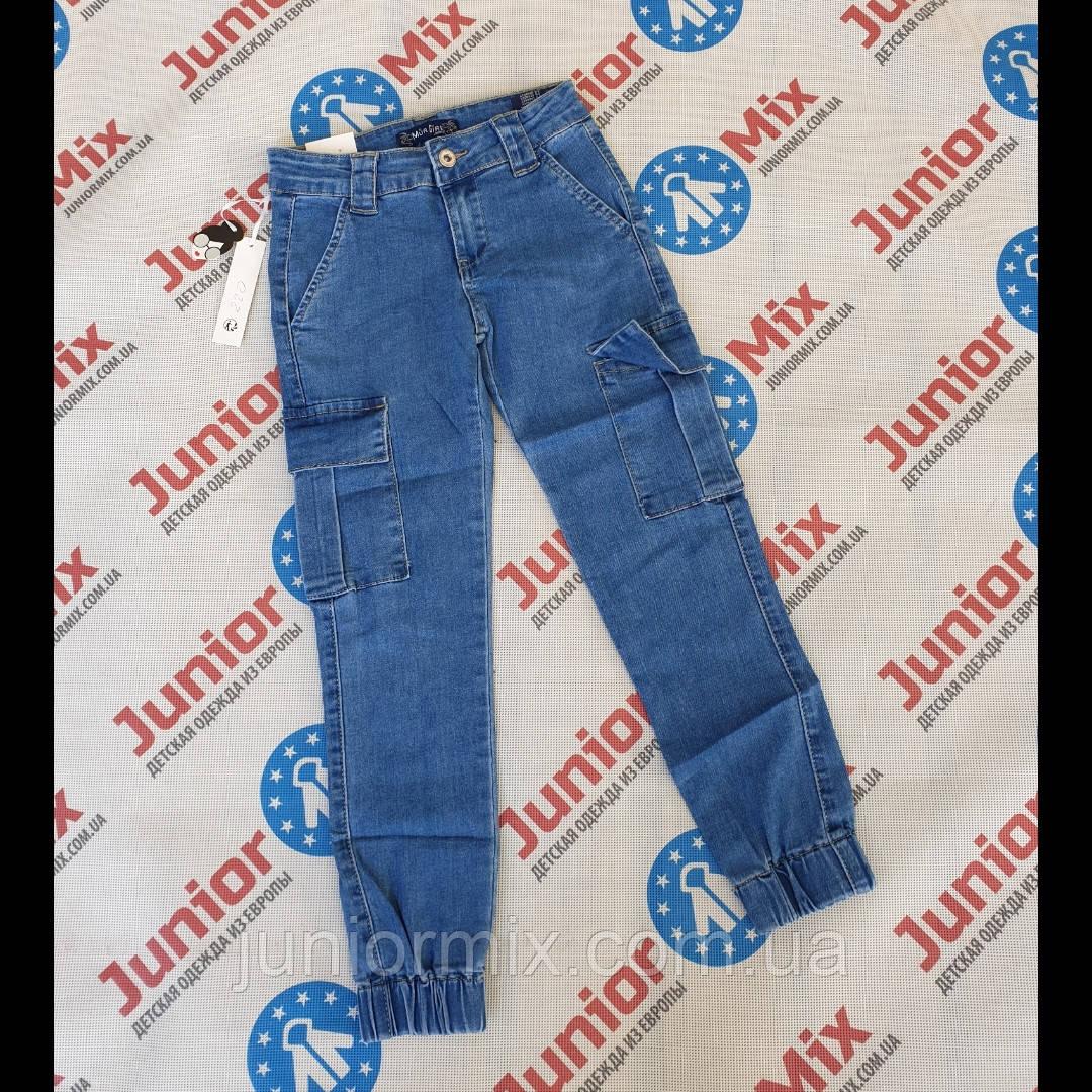 Подростковые джинсовые брюки с накладными карманами  для девочек оптом  MUA GIRL