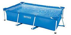 Бассейн каркасный прямоугольный Каркасный бассейн 300х200х75 см Intex 28272 Blue
