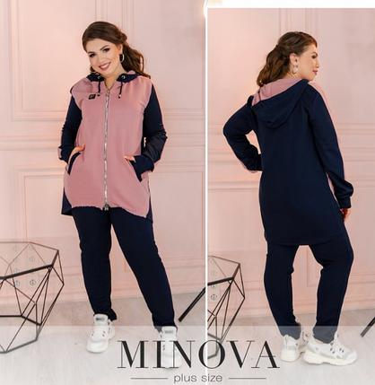 Спортивный костюм женский большого размера  Minova Размеры: 50-52, 54-56, 58-60, 62-64, фото 2