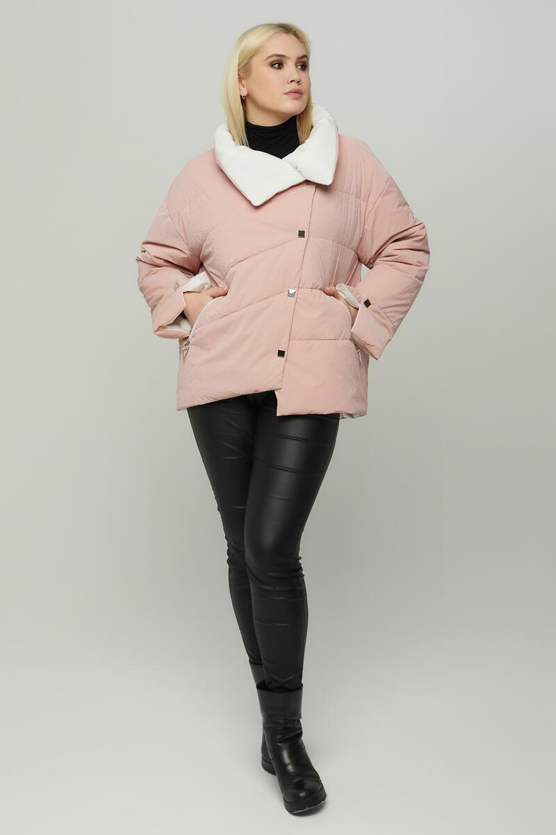 Асимметричная женская короткая куртка, размеры 48-54