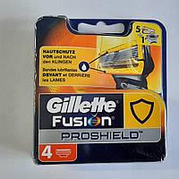 Кассеты Gillette Fusion Proshield 4 шт. ( Картриджи жиллетт Фюжин прошилд желтые Оригинал Германия )