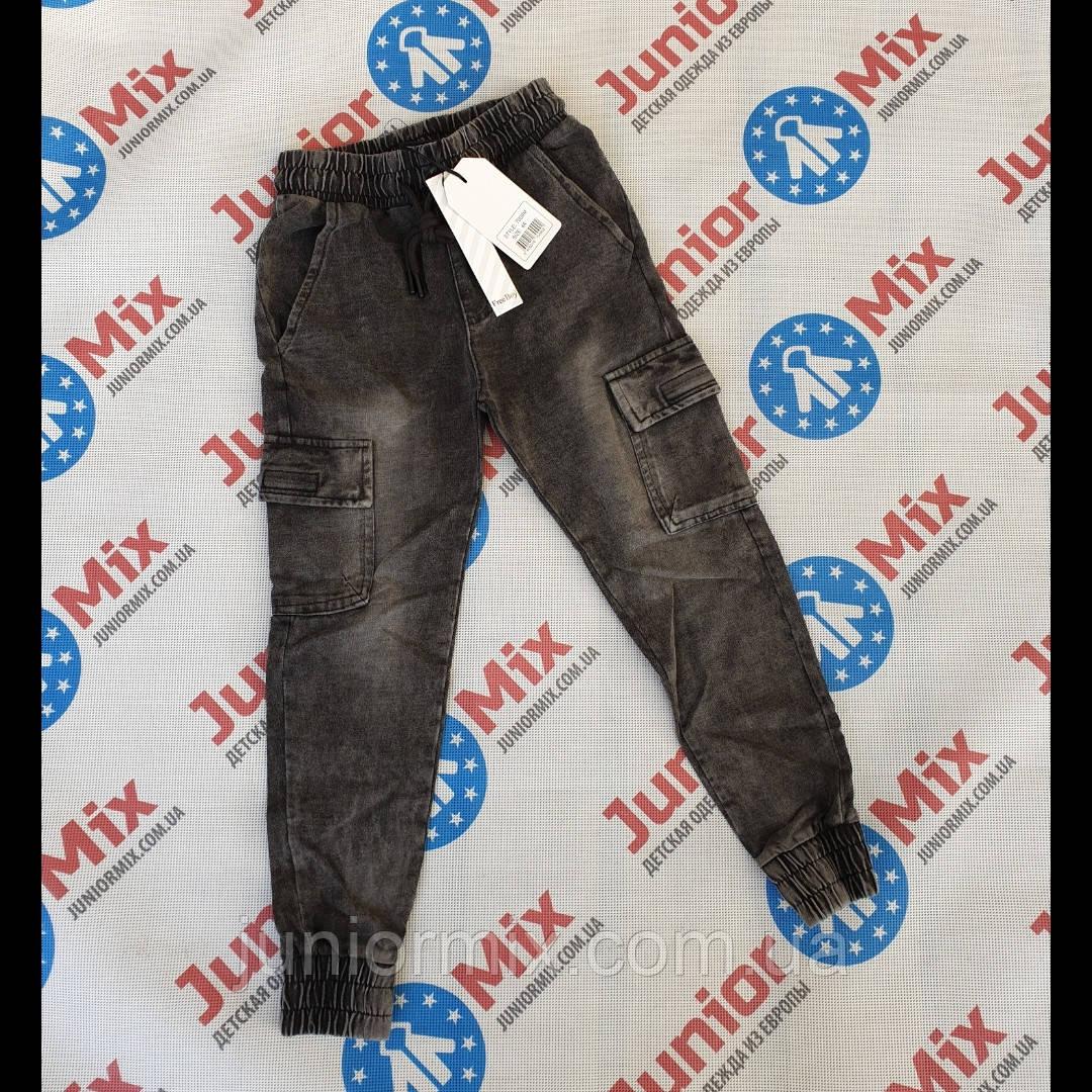 Детские джинсовые  брюки на манжете для мальчиков оптом FREE BOY