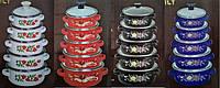 Набор эмалированных кастрюль с стеклянными крышками из 5 шт Swiss Family SF-673EDG