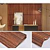 Самоклеющаяся декоративная 3D панель под дерево темный дуб  700*770*6мм, фото 6