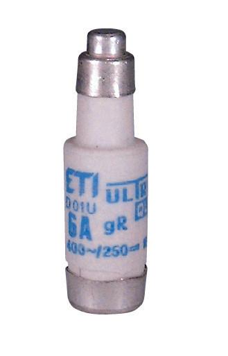 Предохранитель ETI D01 UQ gR 16A 400V E14 50kA 4311005 (универсальный)