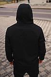 """Костюм мужской Softshell """"Intruder"""" черный (куртка и штаны) + Баф Intruder в подарок, фото 2"""