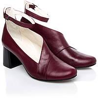 Туфли кожаные женские бордовые La Rose 2249 37(24,6см ) натуральная кожа
