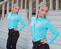 """Элегантная женская рубашка """"Погончики"""" в расцветках"""