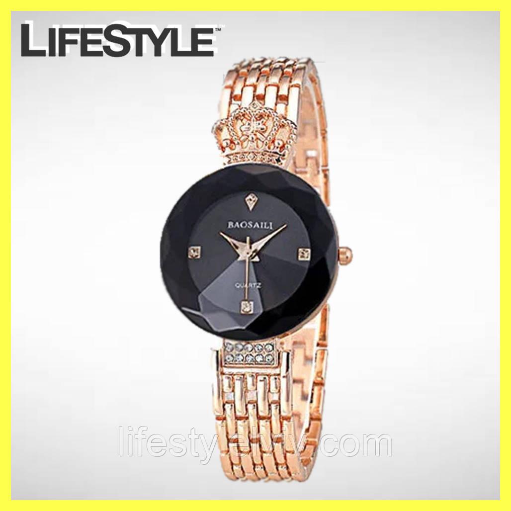 Женские часы Baosaili Черный-Золотистый