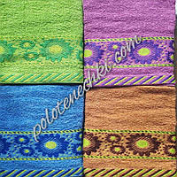 Махровое лицевое полотенце Ромашки