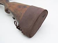Тыльник на приклад кожа Ретро коричневый 10020/2