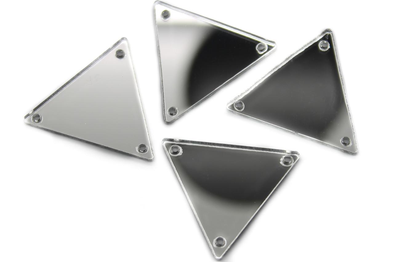 Дзеркальні стрази, Розмір:27x27 мм, Колір Срібло, Ціна за 10шт.
