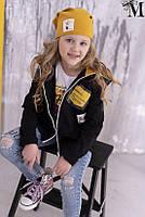 Детская туника для девочки MalaMi Польша 1418 Черный