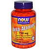 Бета-Аланин 120 капс  750 мг устранение  приливов  при климаксе у женщин Now Foods USA