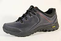 Демисезонная детская спортивная обувь из натуральной кожи DF 52 син