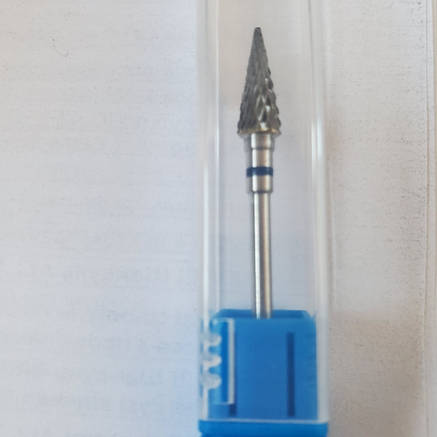 Насадка к фрезеру твердосплавная синяя средней жесткости конус, фото 2