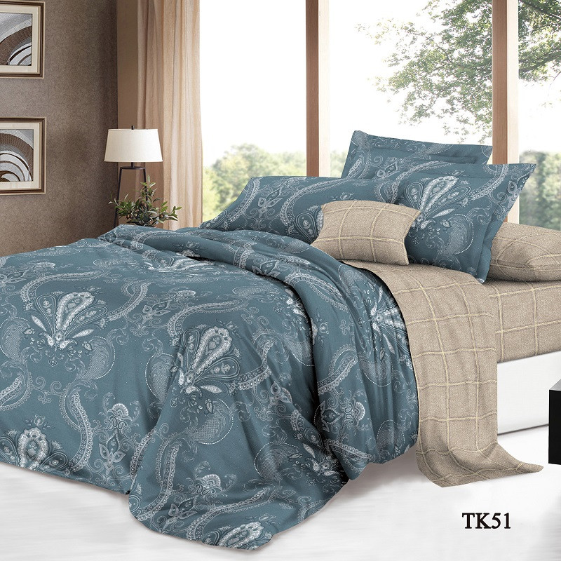 Комплект постельного белья Сатин двуспальный K-SN-TK-51-A-B