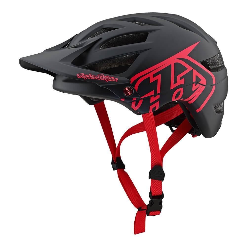 Велошлем Troy Lee Designs TLD A1 Drone (черный с красным) размер S