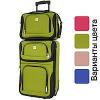 Комплект дорожный чемодан на колесах + сумка Bonro Best средний набор (набір дорожня валіза + сумка середній)