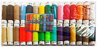 """Нитки швейные """"Радуга"""" полиэстер №40, набор из 30 цветов, упаковка 30 шт."""