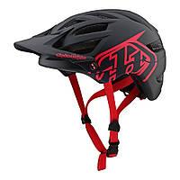 Велошлем Troy Lee Designs TLD A1 Drone (черный с красным) размер M/L, фото 1
