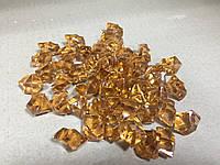 Кристаллы камни декоративные осколки 1,5х1,5 см / янтарные темные
